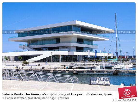 Купить «Veles e Vents, the America's cup building at the port of Valencia, Spain.», фото № 30926336, снято 6 июня 2019 г. (c) age Fotostock / Фотобанк Лори