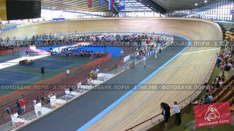 Купить «Велодром(таймлапс)», видеоролик № 3760748, снято 4 октября 2011 г. (c) Losevsky Pavel / Фотобанк Лори