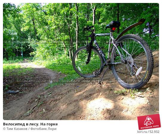 Купить «Велосипед в лесу. На горке», фото № 52932, снято 13 июня 2007 г. (c) Тим Казаков / Фотобанк Лори