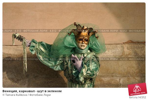 Купить «Венеция, карнавал - шут в зеленом», фото № 4512, снято 28 февраля 2006 г. (c) Tamara Kulikova / Фотобанк Лори