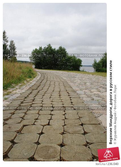 Верхние Мандроги, дорога в русском стиле, эксклюзивное фото № 236040, снято 26 июля 2007 г. (c) Журавлев Андрей / Фотобанк Лори