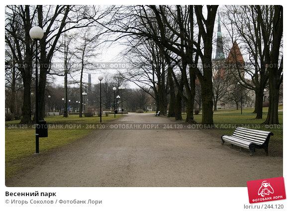Весенний парк, фото № 244120, снято 6 апреля 2008 г. (c) Игорь Соколов / Фотобанк Лори