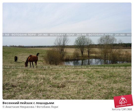Купить «Весенний пейзаж с лошадьми», фото № 241968, снято 7 мая 2007 г. (c) Анастасия Некрасова / Фотобанк Лори