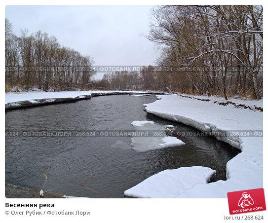 Весенняя река, фото № 268624, снято 16 марта 2008 г. (c) Олег Рубик / Фотобанк Лори
