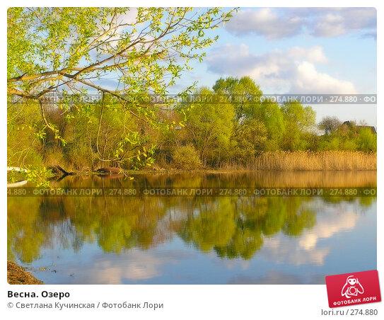 Весна. Озеро, фото № 274880, снято 17 января 2017 г. (c) Светлана Кучинская / Фотобанк Лори