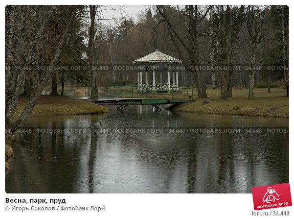 Весна, парк, пруд, фото № 34448, снято 26 марта 2017 г. (c) Игорь Соколов / Фотобанк Лори