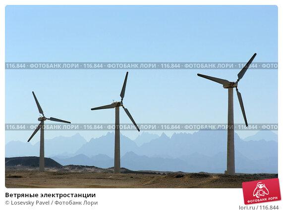 Купить «Ветряные электростанции», фото № 116844, снято 9 января 2006 г. (c) Losevsky Pavel / Фотобанк Лори