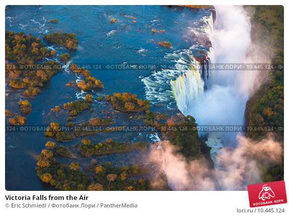Victoria Falls from the Air, фото № 10445124, снято 28 июля 2017 г. (c) PantherMedia / Фотобанк Лори