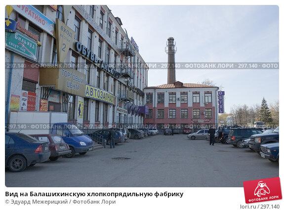 Вид на Балашихинскую хлопкопрядильную фабрику, фото № 297140, снято 23 апреля 2008 г. (c) Эдуард Межерицкий / Фотобанк Лори