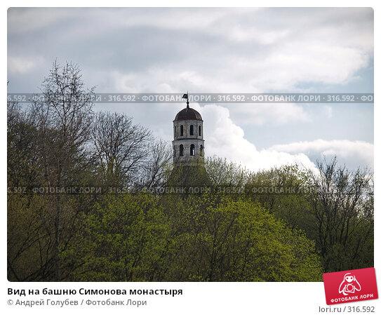 Вид на башню Симонова монастыря, фото № 316592, снято 19 апреля 2008 г. (c) Андрей Голубев / Фотобанк Лори