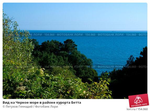 Вид на Черное море в районе курорта Бетта, фото № 154060, снято 6 августа 2007 г. (c) Петухов Геннадий / Фотобанк Лори