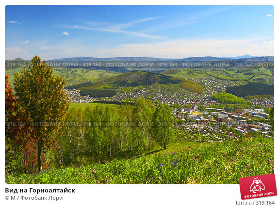 Вид на Горноалтайск, фото № 319164, снято 17 января 2017 г. (c) Михаил / Фотобанк Лори