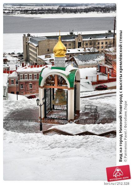 Вид на город Нижний Новгород с высоты кремлёвской стены, фото № 212328, снято 19 февраля 2008 г. (c) Parmenov Pavel / Фотобанк Лори