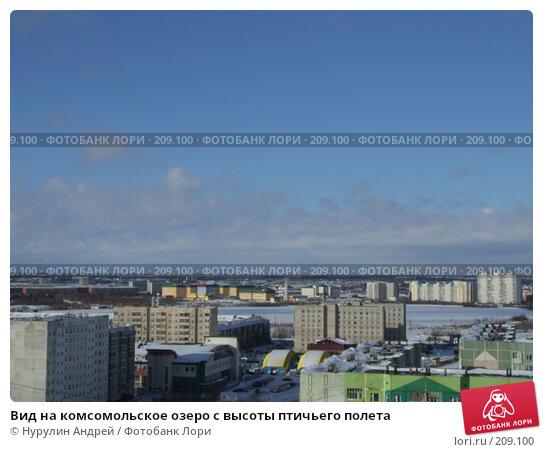 Вид на комсомольское озеро с высоты птичьего полета, фото № 209100, снято 25 февраля 2008 г. (c) Нурулин Андрей / Фотобанк Лори