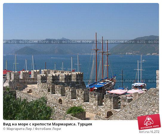 Вид на море с крепости Мармариса. Турция, фото № 6272, снято 12 июля 2006 г. (c) Маргарита Лир / Фотобанк Лори