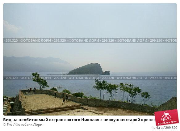 Вид на необитаемый остров святого Николая с верхушки старой крепости, Будва, Черногория, фото № 299320, снято 26 августа 2007 г. (c) Fro / Фотобанк Лори