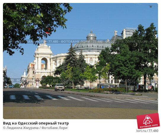 Вид на Одесский оперный театр, фото № 77480, снято 6 августа 2006 г. (c) Людмила Жмурина / Фотобанк Лори