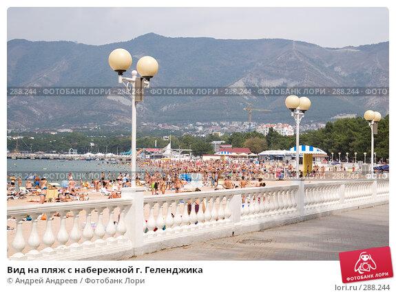 Вид на пляж с набережной г. Геленджика, фото № 288244, снято 4 сентября 2007 г. (c) Андрей Андреев / Фотобанк Лори