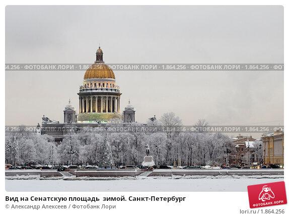 Купить «Вид на Сенатскую площадь  зимой. Санкт-Петербург», эксклюзивное фото № 1864256, снято 18 января 2010 г. (c) Александр Алексеев / Фотобанк Лори