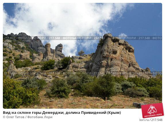 Вид на склоне горы Демерджи, долина Привидений (Крым), фото № 217548, снято 13 сентября 2006 г. (c) Олег Титов / Фотобанк Лори