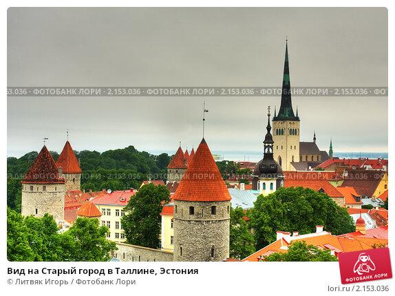 Купить «Вид на Старый город в Таллине, Эстония», эксклюзивное фото № 2153036, снято 25 июня 2010 г. (c) Литвяк Игорь / Фотобанк Лори