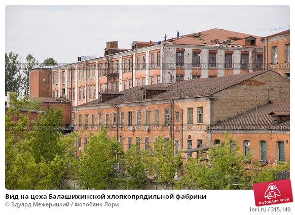 Вид на цеха Балашихинской хлопкопрядильной фабрики, фото № 315140, снято 29 мая 2008 г. (c) Эдуард Межерицкий / Фотобанк Лори