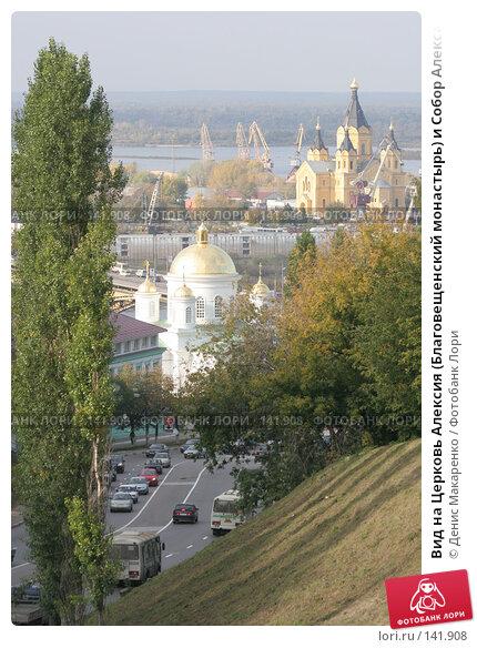 Вид на Церковь Алексия (Благовещенский монастырь) и Собор Александра Невского, фото № 141908, снято 2 октября 2007 г. (c) Денис Макаренко / Фотобанк Лори