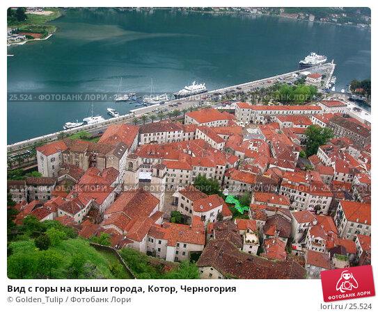 Вид с горы на крыши города, Котор, Черногория, фото № 25524, снято 11 мая 2006 г. (c) Golden_Tulip / Фотобанк Лори