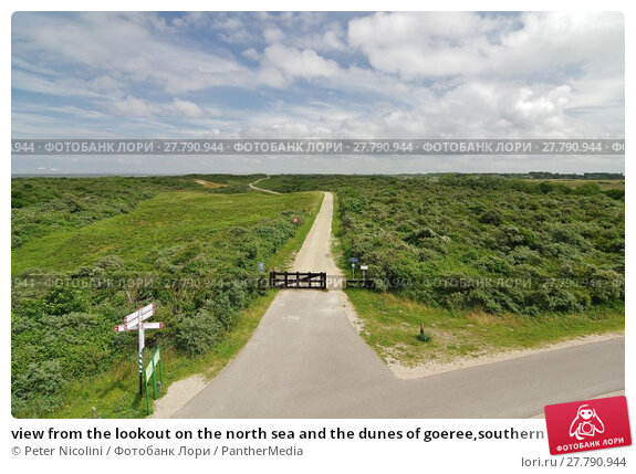 Купить «view from the lookout on the north sea and the dunes of goeree,southern netherlands», фото № 27790944, снято 17 октября 2018 г. (c) PantherMedia / Фотобанк Лори