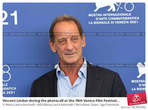 Vincent Lindon during the photocall at the 78th Venice Film Festival... Редакционное фото, фотограф Maria Laura Antonelli / AGF/Maria Laura Antonelli / age Fotostock / Фотобанк Лори