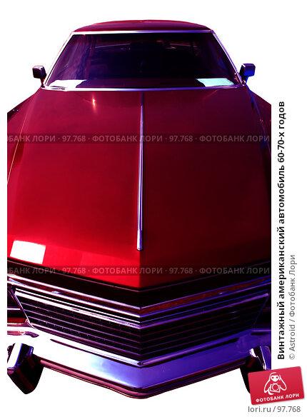Купить «Винтажный американский автомобиль 60-70-х годов», фото № 97768, снято 11 июля 2007 г. (c) Astroid / Фотобанк Лори