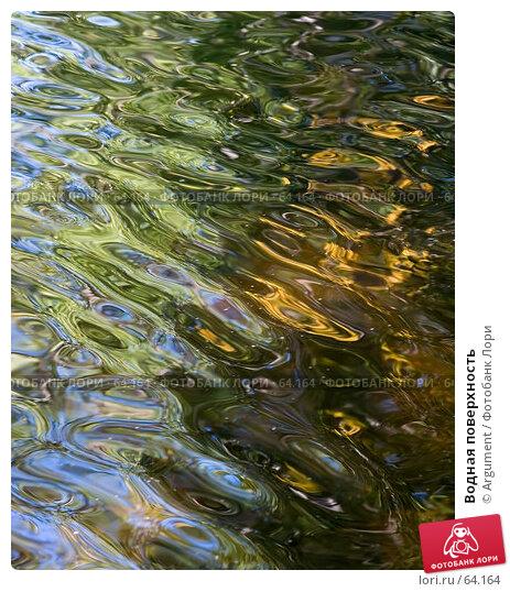 Купить «Водная поверхность», фото № 64164, снято 11 августа 2006 г. (c) Argument / Фотобанк Лори
