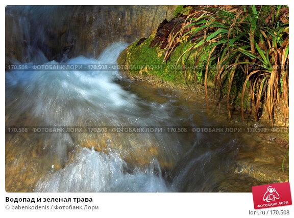 Водопад и зеленая трава, фото № 170508, снято 5 января 2007 г. (c) Бабенко Денис Юрьевич / Фотобанк Лори