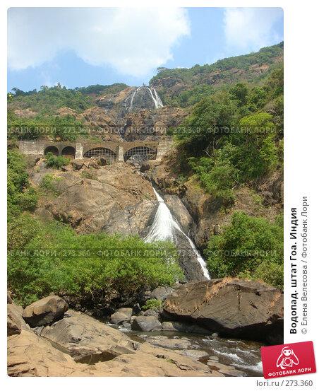 Водопад. штат Гоа. Индия, фото № 273360, снято 14 февраля 2008 г. (c) Елена Велесова / Фотобанк Лори