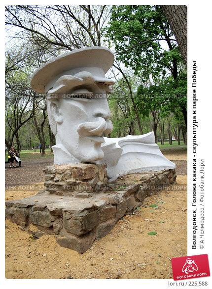 Волгодонск, Голова казака - скульптура в парке Победы, фото № 225588, снято 9 мая 2007 г. (c) A Челмодеев / Фотобанк Лори
