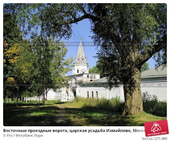 Восточные проездные ворота, царская усадьба Измайлово, Москва, фото № 271480, снято 10 сентября 2005 г. (c) Fro / Фотобанк Лори