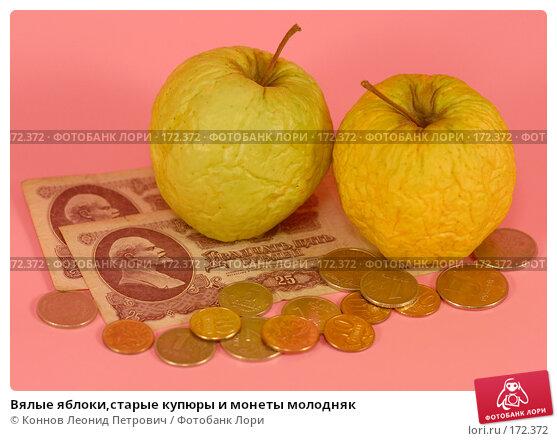 Вялые яблоки,старые купюры и монеты молодняк, фото № 172372, снято 10 января 2008 г. (c) Коннов Леонид Петрович / Фотобанк Лори