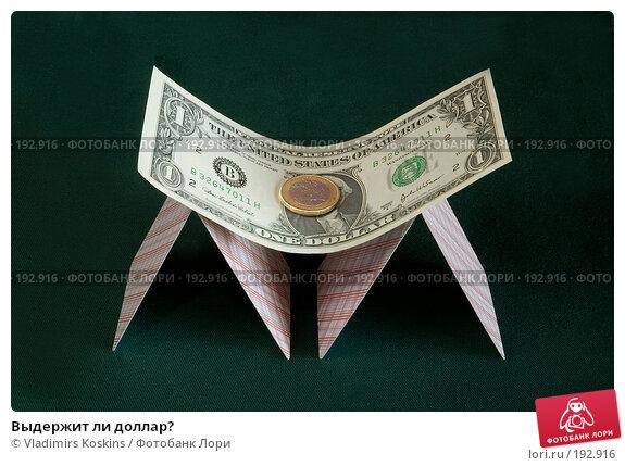 Выдержит ли доллар?, фото № 192916, снято 25 декабря 2006 г. (c) Vladimirs Koskins / Фотобанк Лори
