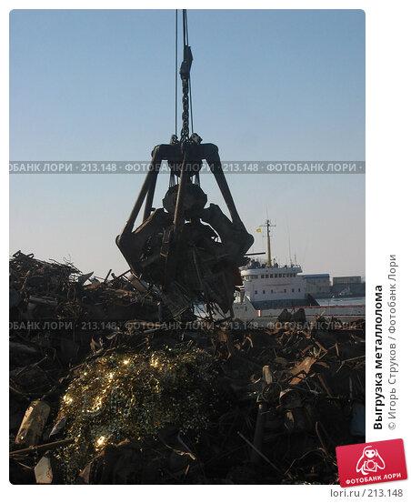 Купить «Выгрузка металлолома», фото № 213148, снято 29 февраля 2008 г. (c) Игорь Струков / Фотобанк Лори