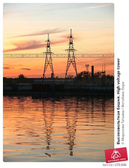 Купить «Высоковольтная башня. High voltage tower», фото № 270848, снято 25 апреля 2008 г. (c) Морозова Татьяна / Фотобанк Лори