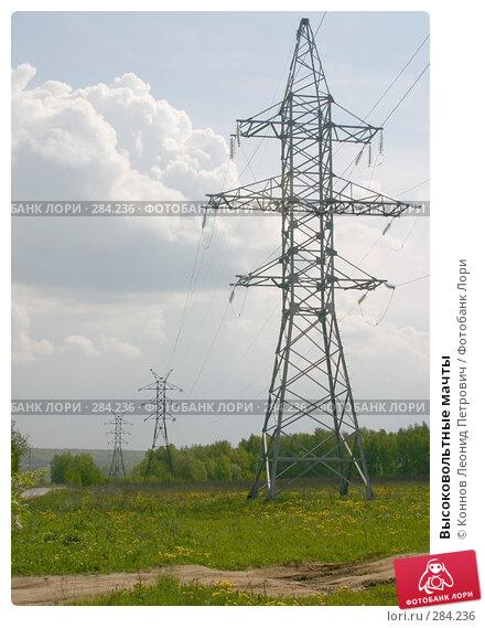 Высоковольтные мачты, фото № 284236, снято 13 мая 2008 г. (c) Коннов Леонид Петрович / Фотобанк Лори