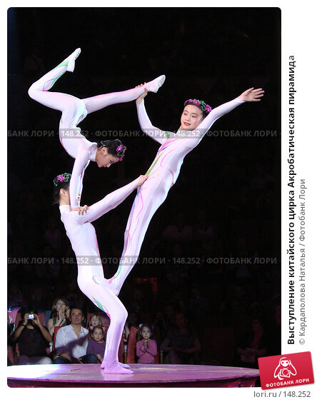Выступление китайского цирка Акробатическая пирамида, фото № 148252, снято 27 мая 2007 г. (c) Кардаполова Наталья / Фотобанк Лори