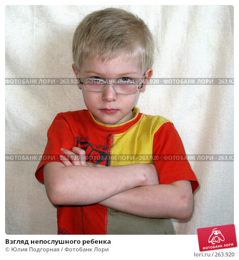 Взгляд непослушного ребенка, фото № 263920, снято 12 апреля 2008 г. (c) Юлия Селезнева / Фотобанк Лори