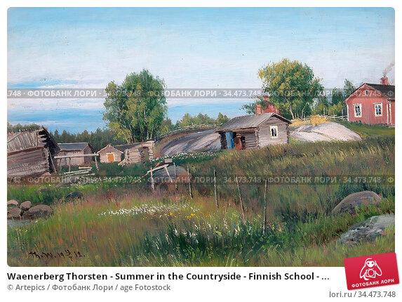 Waenerberg Thorsten - Summer in the Countryside - Finnish School - ... Редакционное фото, фотограф Artepics / age Fotostock / Фотобанк Лори