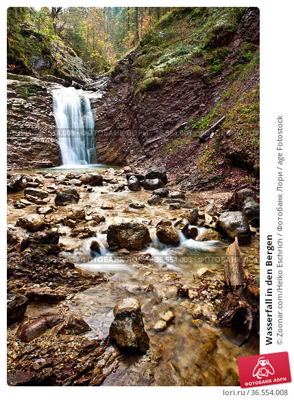 Wasserfall in den Bergen. Стоковое фото, фотограф Zoonar.com/Heiko Eschrich / age Fotostock / Фотобанк Лори