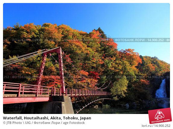 Купить «Waterfall, Houtaihashi, Akita, Tohoku, Japan», фото № 14900252, снято 21 июня 2018 г. (c) age Fotostock / Фотобанк Лори