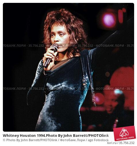 Whitney Houston 1994.Photo By John Barrett/PHOTOlink (2008 год). Редакционное фото, фотограф Photo By John Barrett/PHOTOlink / age Fotostock / Фотобанк Лори