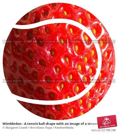 Купить «Wimbledon - A tennis ball shape with an image of a strawberry making up the ball», фото № 27785740, снято 19 февраля 2018 г. (c) PantherMedia / Фотобанк Лори