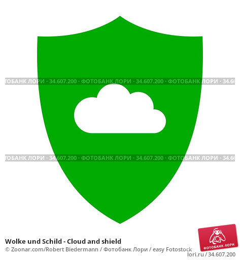 Wolke und Schild - Cloud and shield. Стоковое фото, фотограф Zoonar.com/Robert Biedermann / easy Fotostock / Фотобанк Лори