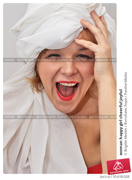 woman happy girl cheerful joyful. Стоковое фото, фотограф Brigitte Meckle / PantherMedia / Фотобанк Лори
